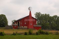 by Dorothy Turnbull - Buildings & Architecture Public & Historical ( state of ohio, old, chicken coop, green, john turnbull, carriage hill, field, farm, fence, red, ohio, barn, summer, trees, weeds, five rivers metro park, windmill, dojo photo )
