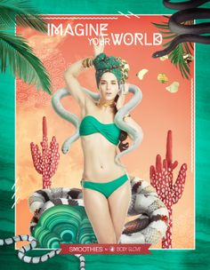 """BECHA x Body Glove Smoothies - """"IMAGINE YOUR WORLD"""" ad campaign"""
