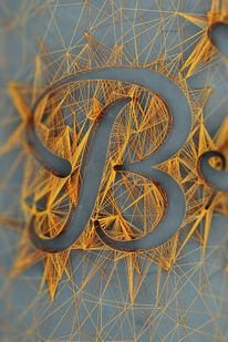 String art letter B Typography Letters, Graphic Design Typography, Typography Served, Japanese Typography, Typography Poster, String Art Letters, Arte Linear, Typographie Inspiration, Ideias Diy
