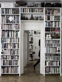 I love how this add dimension to one room, and a sense of entering another room through a passage.