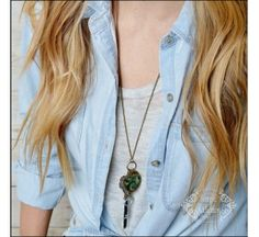 $7.95 Peacock Tassel Necklace