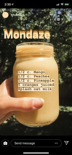 Weight Loss Drink With Apple Cider Vinegar Recipe Healthy Fruit Smoothies, Yummy Smoothie Recipes, Smoothie Drinks, Healthy Fruits, Healthy Drinks, Healthy Food, Aesthetic Food, Weight Loss, Losing Weight