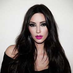 Kim Kardashian using Pink Schiap - Nars