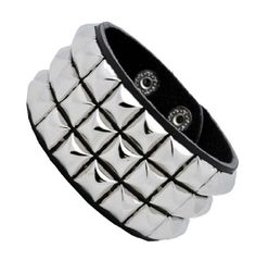 Leather Silver Stud Wristband Gothic Punk Glam Emo by 2 Brothers -- Awesome products selected by Anna Churchill 80s Jewelry, Cuff Jewelry, Silver Bangle Bracelets, Gothic Jewellery, Silver Jewellery, Fashion Jewelry, Ankle Jewelry, Pandora Jewelry, Jewlery