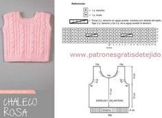Tutorial de chaleco de bebé tejido tricot