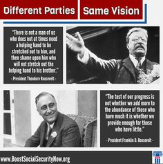 We've been watching The Roosevelts documentary on PBS and are reminded that even though Franklin Roosevelt and Teddy Roosevelt belonged to different parties, they were both children of privilege who came to see themselves as champions of the working man. My how times have changed!