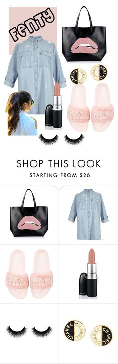 """How To: FENTY Slides III"" by lbell813 on Polyvore featuring RED Valentino, River Island, Puma, David Jones and Chanel"