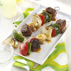 Grilled Beef Kabobs Recipe from Taste of Home -- shared by Dolores Lueken of Ferdinand, Indiana
