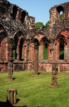 The remains of Furness Abbey, in South Cumbria, England