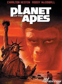 An astronaut crew crash lands on a planet in the distant future where intelligent talking apes are the dominant species, and humans are the oppressed...  The original ones with Charlton Heston only
