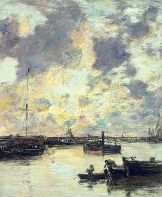 The port - Eugene Louis Boudin