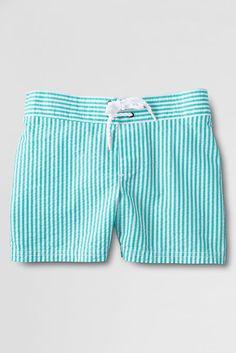 Lands' End Girls' Swim Shorts. UPF 50 Sun Protection Built In. #www.suntan.com