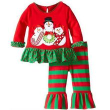 New 2016 Girl Christmas suit children fashion suitable for leisure boy child Christmas comfortable the children's suits clothes(China (Mainland))