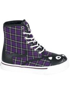 #Kitty #Sneaker #Boots #cats #fashion #botas #lila #negro en oferta por $74.99 euros en #empspain la mayor tienda online de Europa de Merchandising oficial de bandas de #Metal #Hardrock #Heavy Ropa #rock #Gotica #Punk y todo lo que te hace falta para vivir el Rockstyle en toda su dimensión...