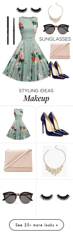 """""""Golden Age"""" by paige-edmund on Polyvore featuring Illesteva, Kate Spade, Talbots and Yves Saint Laurent"""