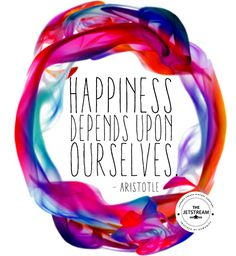 Happiness depends on ourselves | Julian Pencilliah Inspire #Quotes #Inspiration #Motivation