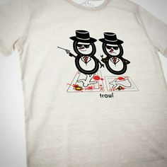 The Snowmen tee goes hand in hand with this design