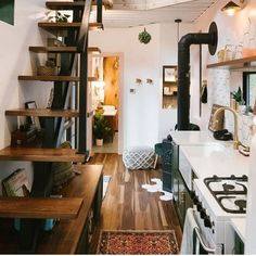 I could seriously live in this boho themed container home! It even has a farmhouse sink.