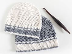 There's no cuter project than an adorable crochet baby hat. This baby beanie is no exception. Introducing the Single Double Crochet Baby Hat Pattern. Easy Crochet Baby Hat, Easy Crochet Hat Patterns, Crochet Beanie Pattern, Basic Crochet Stitches, Crochet Basics, Crochet Hats, Crochet Geek, Beginner Crochet, Baby Patterns