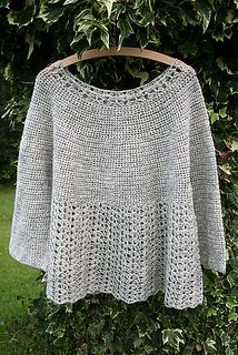 Bellflower - free crochet pattern on Ravelry. Can be made as a pullover or cardigan.