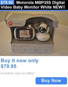 baby kid stuff: Motorola Mbp35s Digital Video Baby Monitor White New!! BUY IT NOW ONLY: $79.95