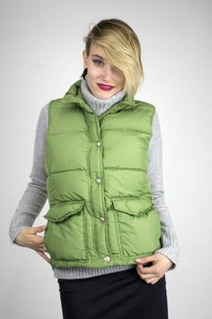 J. CREW women's green sleeveless vest sz S