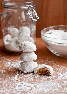 Chai Spiced Snowball Cookies (Gluten-Free and Vegan)