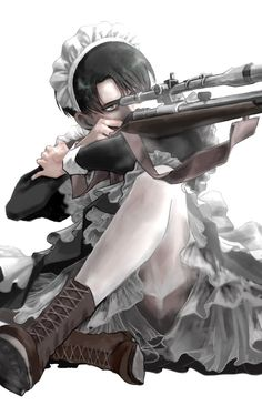 Twitter Maid Outfit Anime, Anime Maid, Attack On Titan Fanart, Attack On Titan Levi, Hot Anime Boy, Cute Anime Guys, Anime Boys, Levi Ackerman, Eren E Levi