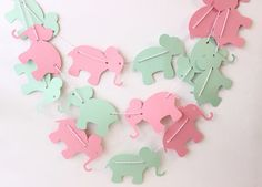 Elephant Baby Shower Elephant Nursery Pink by MailboxHappiness, $12.00