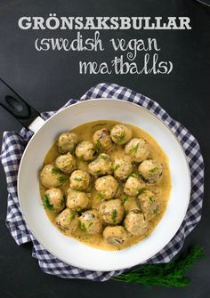 These vegan 'meat'balls are as near as you can get to those served in your favourite Swedish flat-packed furniture chain - totally delicious!