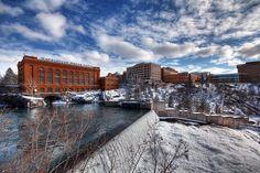 Spokane Falls East HDR by b.cx, via Flickr