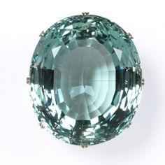 Liz Taylor Aquamarine Ring