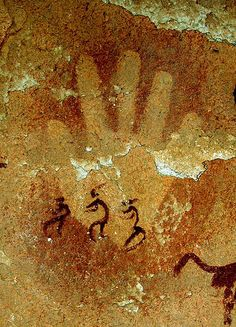 Wadi Sora (Egypt): The Cave of the Swimmers. Main négative et personnages by…