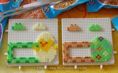 Easter tags hama mini beads by Rachel - Mes Petits Bonheurs