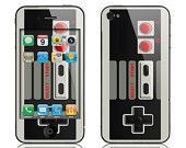 Apple iPhone 4 4S Decal Skin Cover  - Classic Retro Controller GLOSSY MATTE LEATHER option