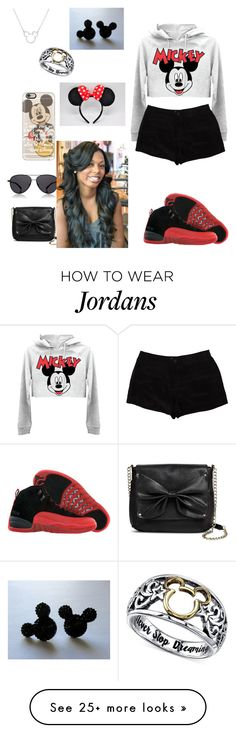 """""""going to Disney world for spring break(ik it's not spring break but I forgot to do this one)"""" by nanioliver on Polyvore featuring Retrò, Disney, Casetify, T By Alexander Wang, The Row and Sam & Libby"""