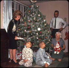 American Family at Christmas — 1964. I have that same creepy santa doll!