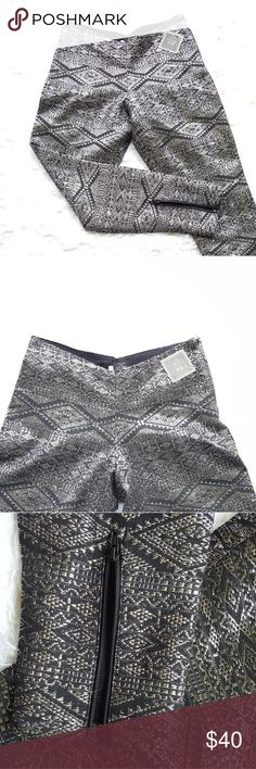 Volcom Stone row collection pant Volcom pant with silver threaded detailing. Also has a zipper on the side of the pant as well as zippers on both ankles. Has a 30 inch waist and 29 inch inseam. The front of the pants also has a dip in the waist Volcom Pants