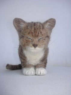 Needle Felted Kitten