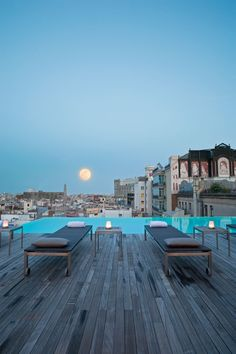 High End Restaurants & Hotels | The Sky Bar at Grand Hotel Central in Barcelona | bocadolobo.com | #inspirations #luxuryhotels #besthotels