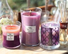 I like these WoodWick candles. They make my house look so pretty