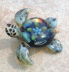 Baby sea turtle necklace glass beads pendant. Love it! Super cute! #TurtleLove
