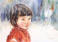 Adan J Cespedes #Watercolor Invierno www.adanjcespedes.com