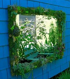 Wall garden w/ mirror.