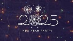 Fireworks party night video template 2025 fireworks and navy background