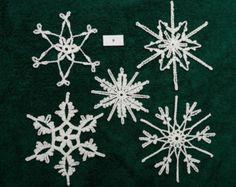 Crocheted Snowflakes - set 9