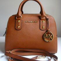 NWT Michael Kors Saffiano Small Satchel Purse Bag in Luggage Photo
