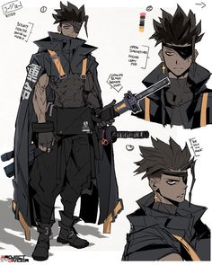 Fantasy Character Design, Character Design Inspiration, Character Concept, Concept Art, Black Cartoon Characters, Dnd Characters, Fantasy Characters, Anime Characters Male, Character Sketches