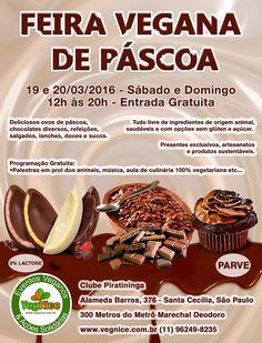 São Paulo: Feira Vegana de Páscoa 19 e 20 março  2016 Site do evento:   https://lnkd.in/e4drVyg   #veganismo  #eventovegano  #govegan #veganismoBrasil  #veganismobr #sustentabilidade #semcrueldade  #saudável #zeroleite #zerolactose #aplv #semlactose #proteínadoleite #intolerâncialactose #maeeaplv #maedeaplv #mamaeeaplv #dietaaplv #freelactose #nolactose #lactosenao #lactosenão #lactosezero #intolerantesalactose  #SãoPaulo #ClubePiratininga