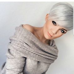 "7,388 Likes, 56 Comments - ShortHair DontCare  PixieCut (@nothingbutpixies) on Instagram: ""Last post of the year for @mademoisellehenriette . Who loves her cut ??"""
